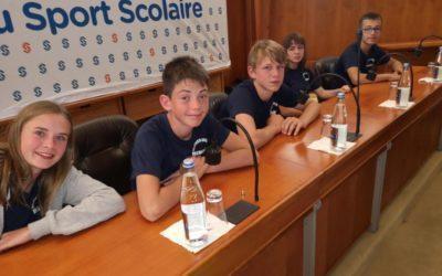 Soirée des sportifs scolaires au conseil départemental