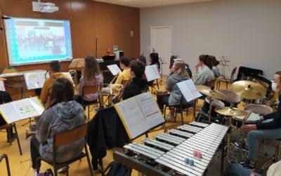 Concert en visio-conférence de l'orchestre des 3èmes