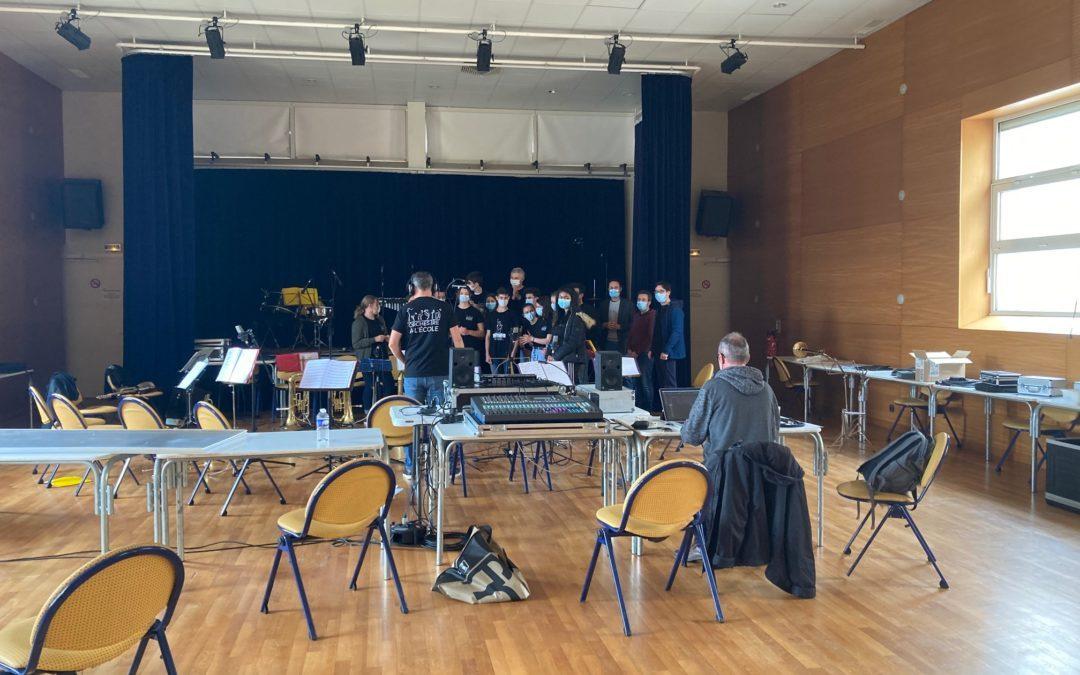 L'Orchestre des 3èmes du collège enregistre un CD